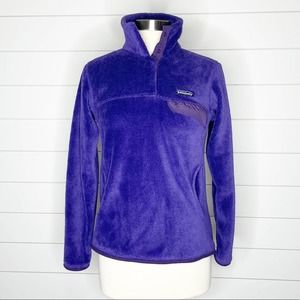 Patagonia Re-Tool Snap-T Fleece Pullover Purple S